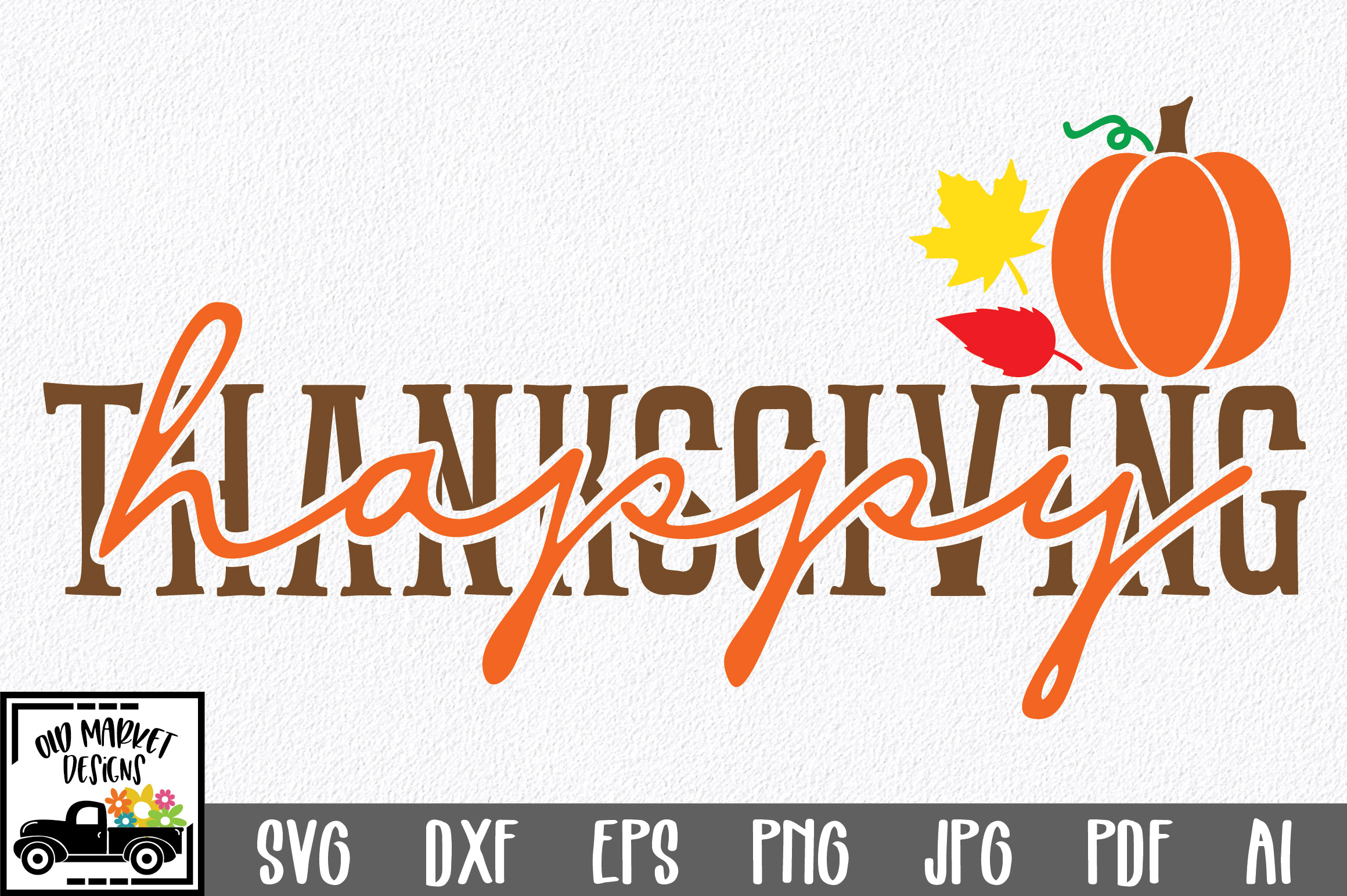Happy Thanksgiving SVG Cut File example image 1