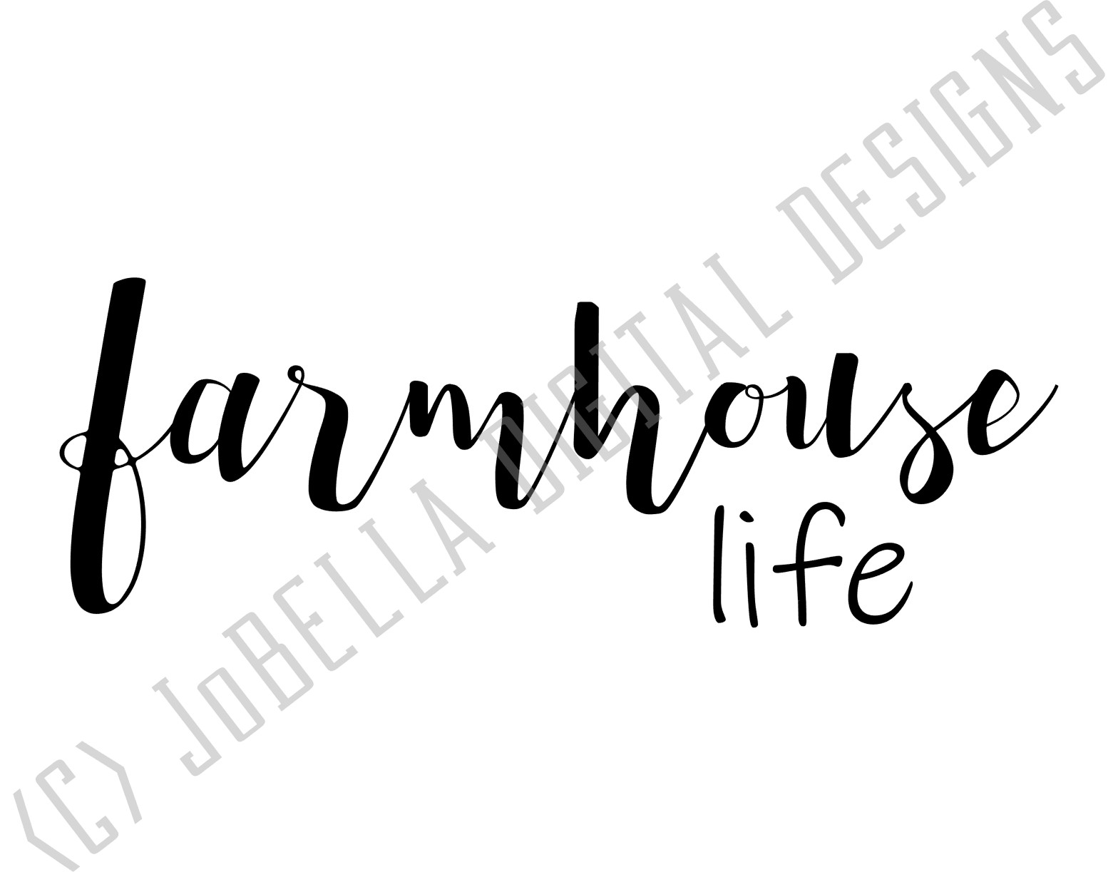 Farmhouse Life SVG, Sublimation & Printable Design example image 2