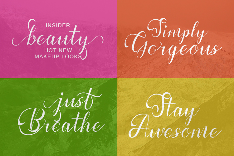 Prettyholic |Script Typeface example image 8