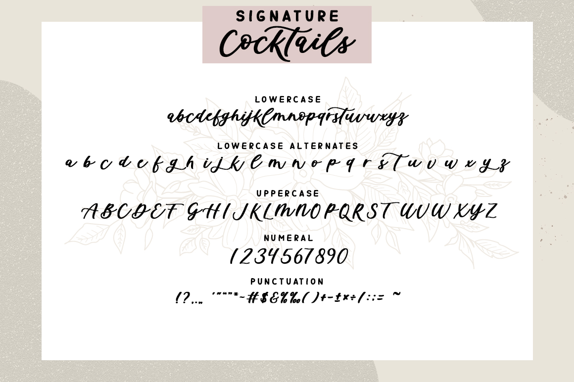 Signature Cocktails Font Duo example image 9