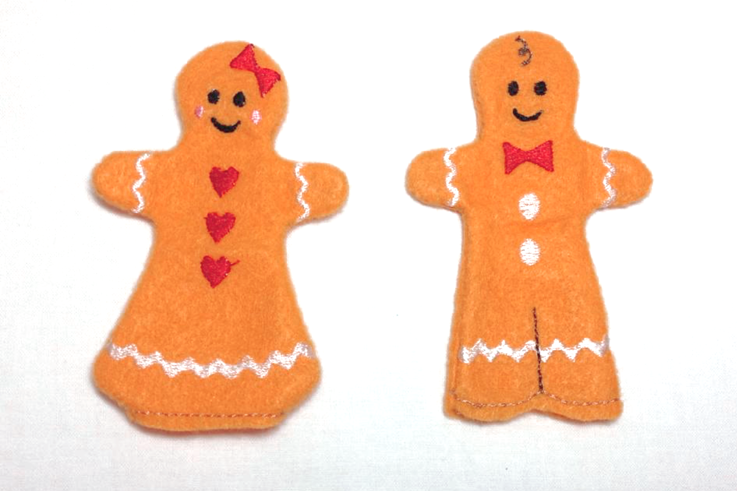 Gingerbread Finger Puppet Set in the Hoop ITH Embroidery example image 2