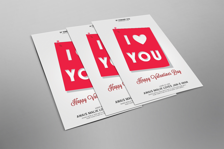 Valentnes i Love You Flyer example image 2