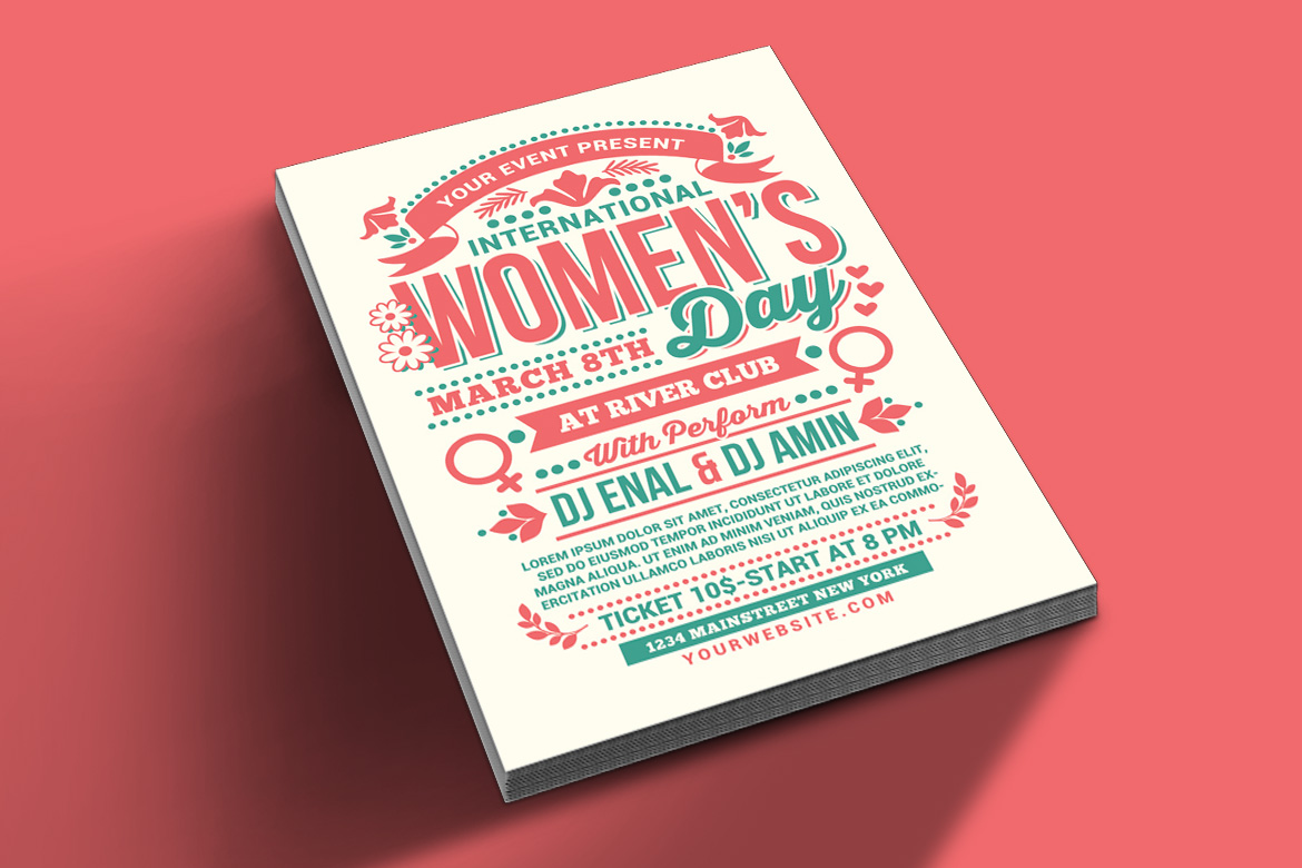 Womens Day International Flyer example image 2