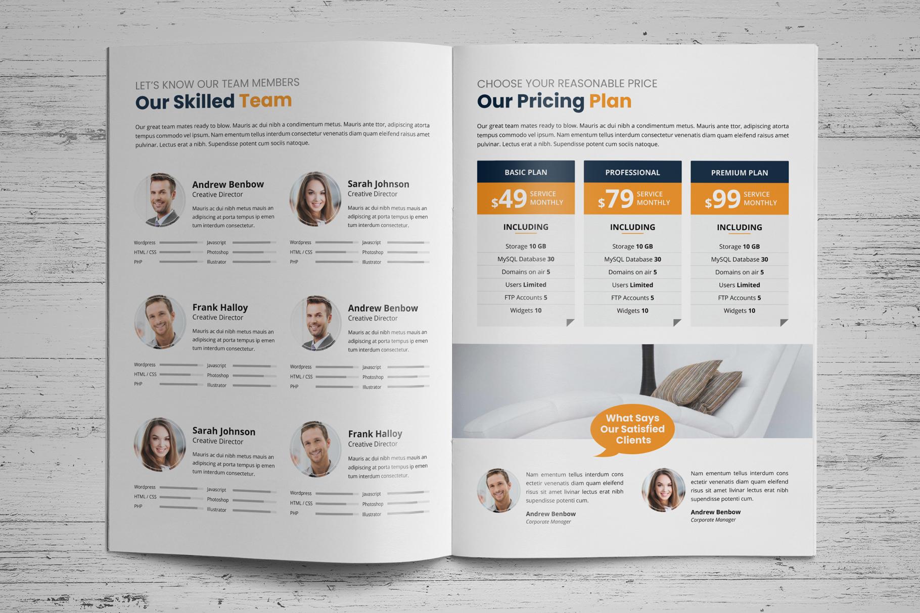 Portfolio Bifold Brochure Design v1 example image 7