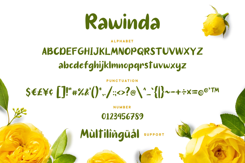 Rawinda - Handdrawn Font example image 6