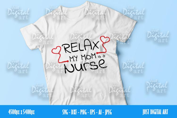 Nurse MOM SVG| PNG | EPS| Mom Gift| Digital Download example image 2