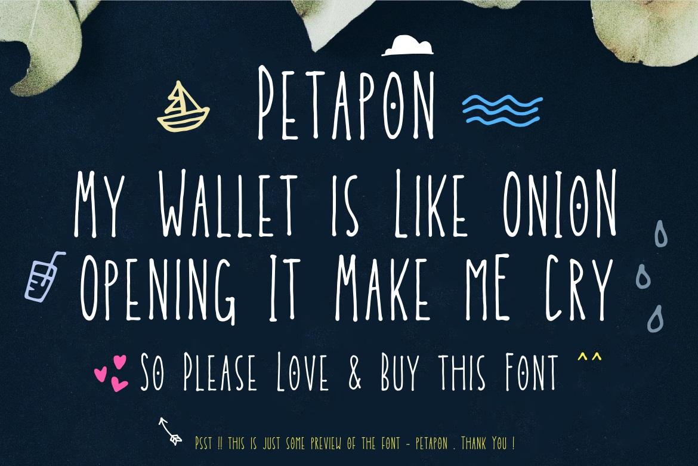 Petapon Font + BONUS example image 2