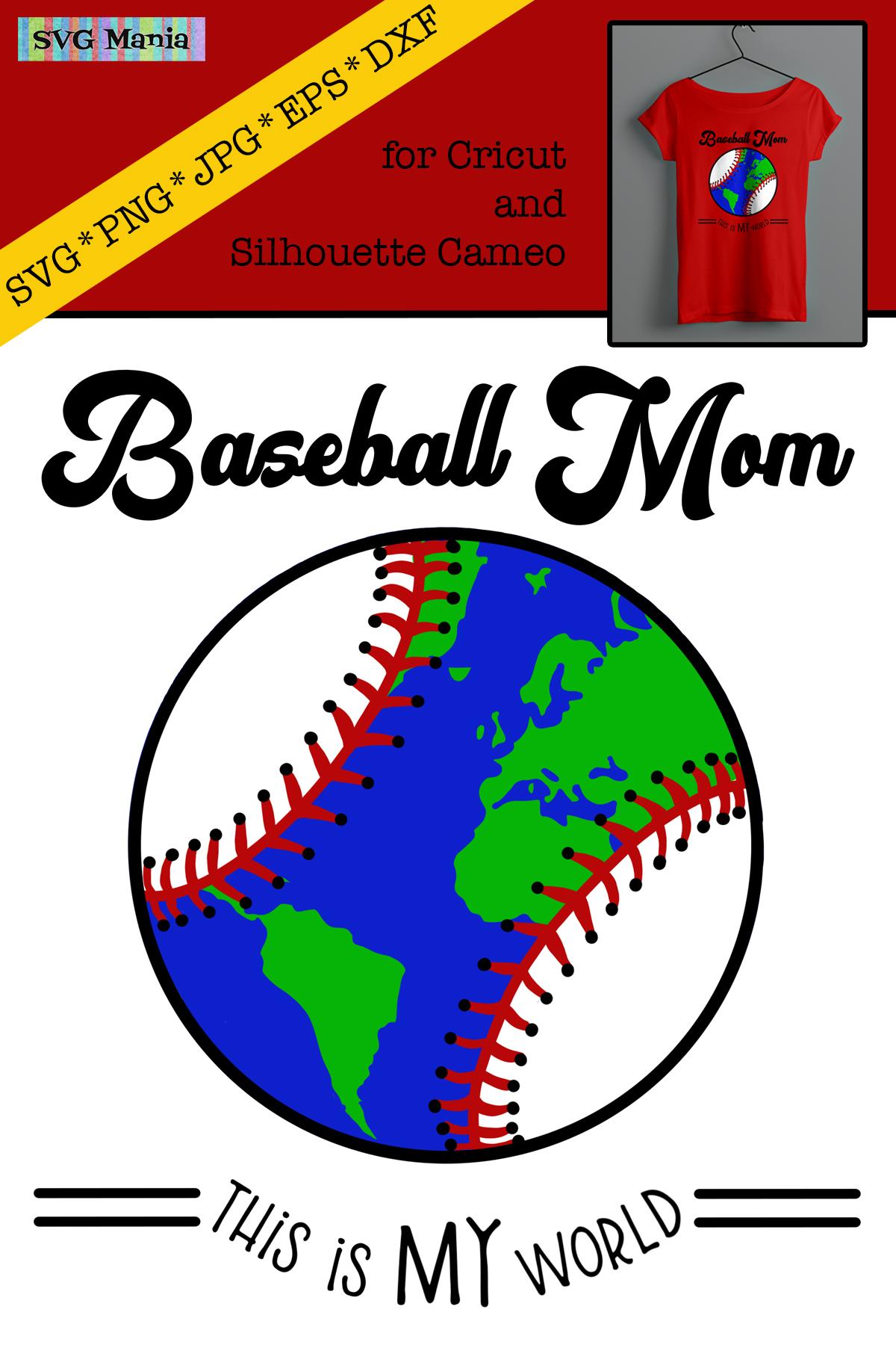 Funny Baseball Mom SVG File, Baseball Saying SVG, Play Ball example image 2