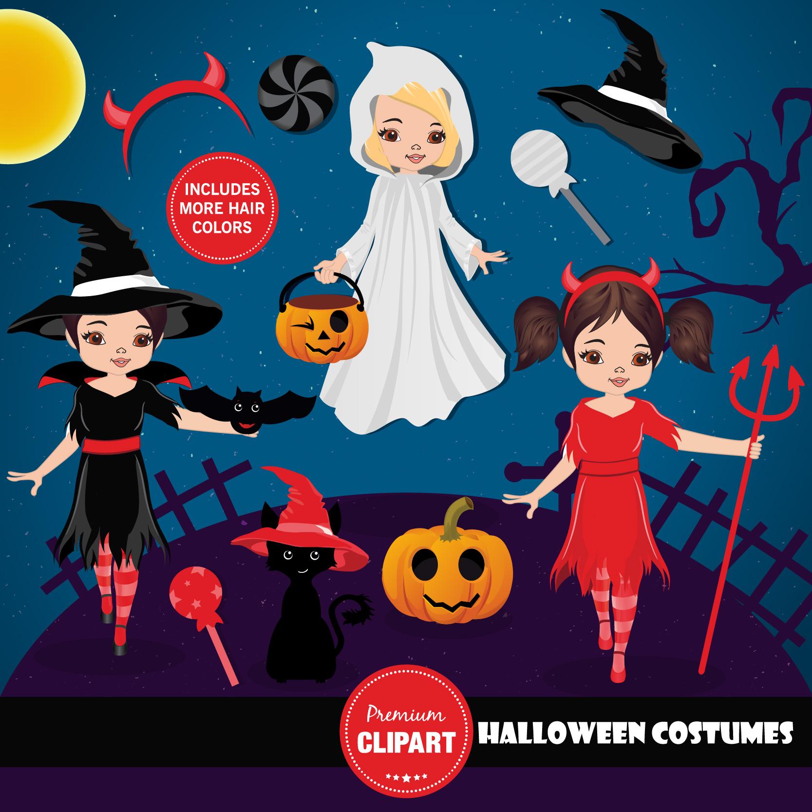 Halloween bundle, Halloween illustrations example image 7