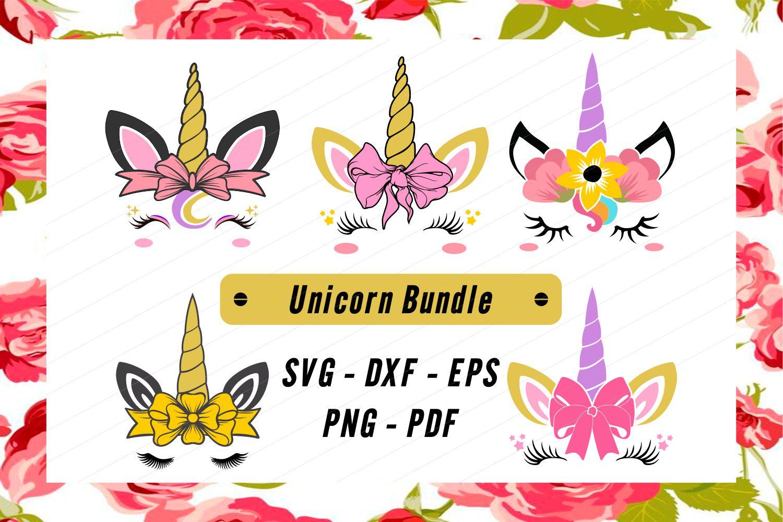 Unicorn svg, unicorn face svg, licorne, unicorn face clipart example image 2