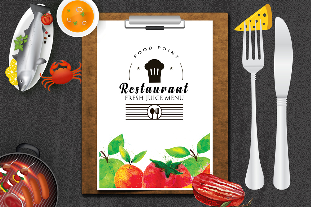 Restaurant Menu Psd Flyer example image 2