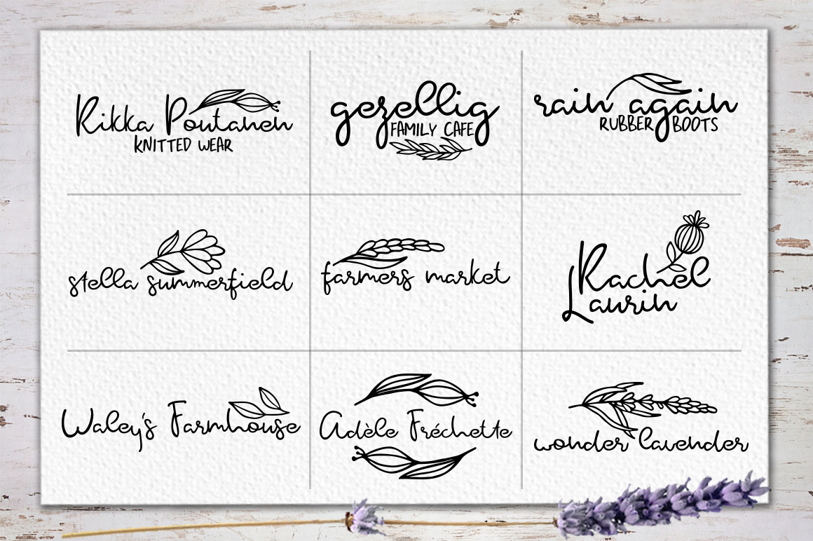 Rosemary & Lavender.Font duo+logos example image 3