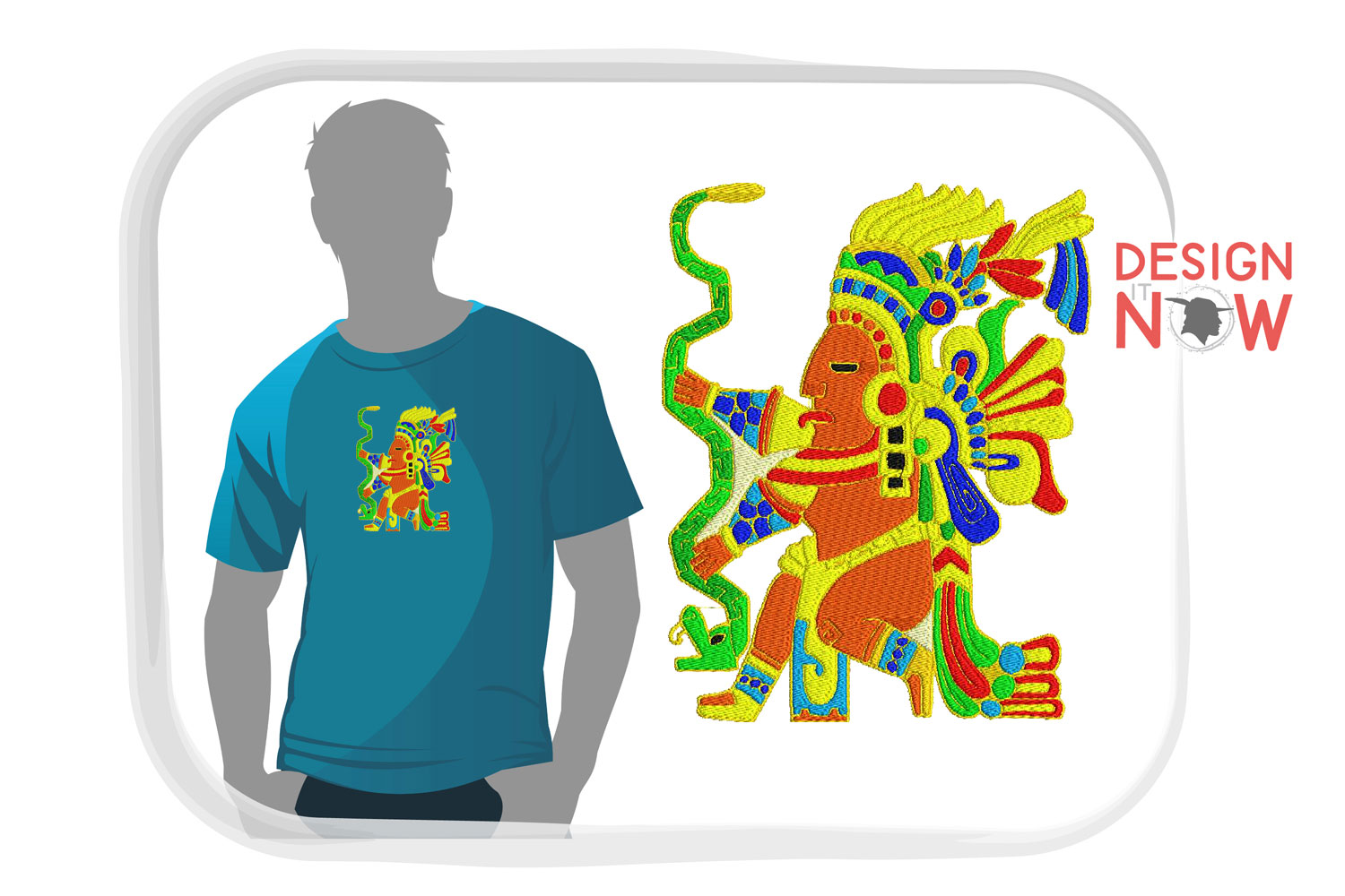 Inca Culture Embroidery Design, Inca Mythology Embroidery example image 4