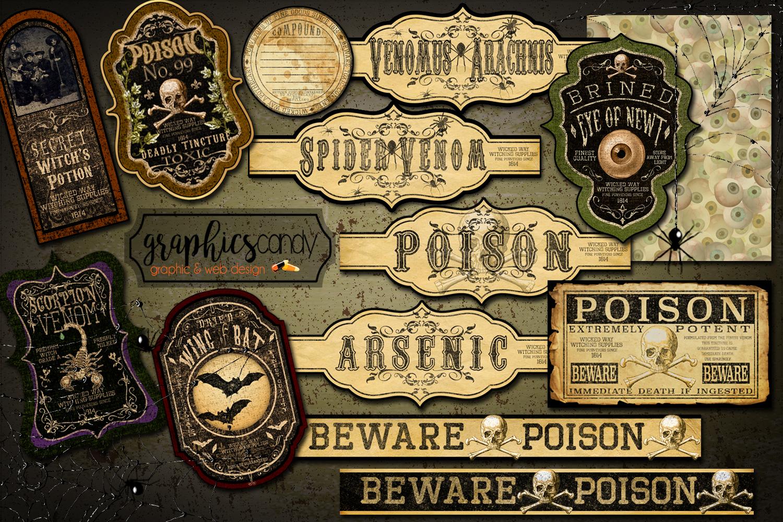 Halloween Apothecary Labels - Halloween Stickers - Halloween example image 1