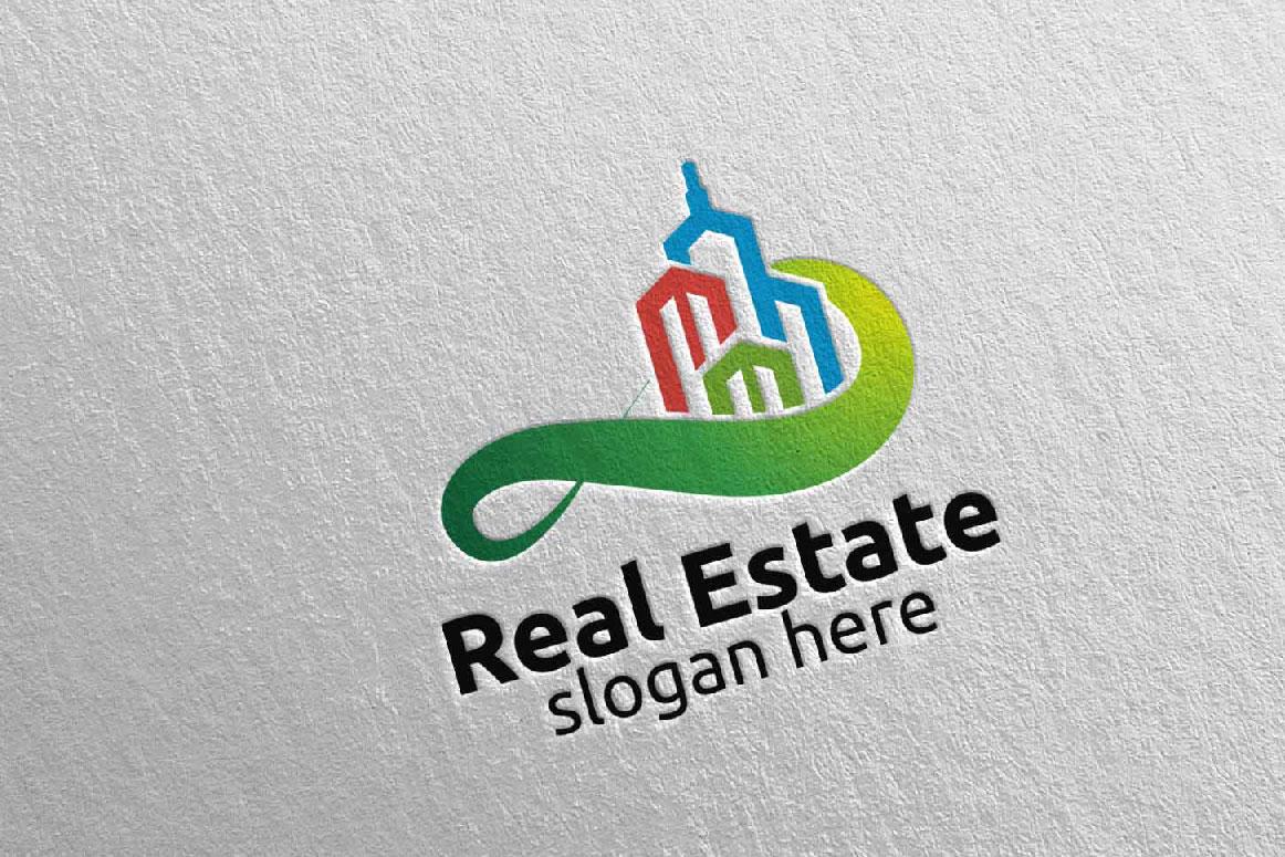 Real Estate Infinity Logo Design 39 example image 5