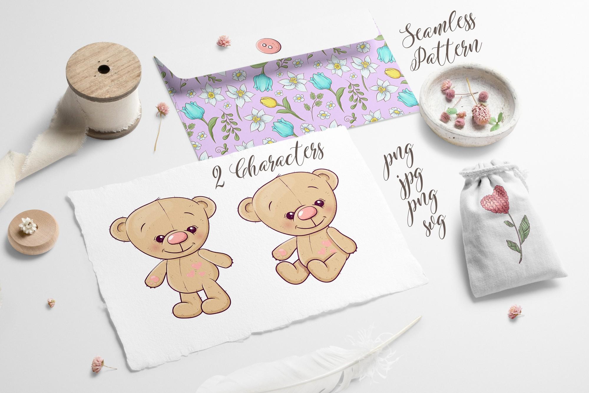 Cute Bear - vector clip art example image 4