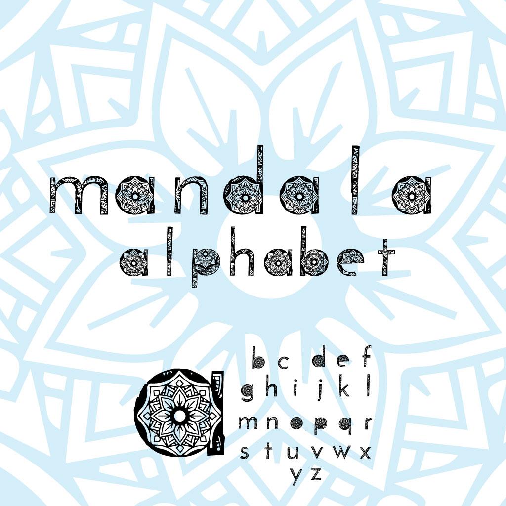 Wonderful Mandala Alphabet example image 2