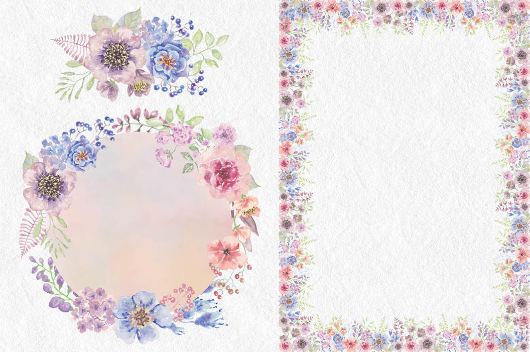 Wedding clip art set: Sunset Hues example image 6