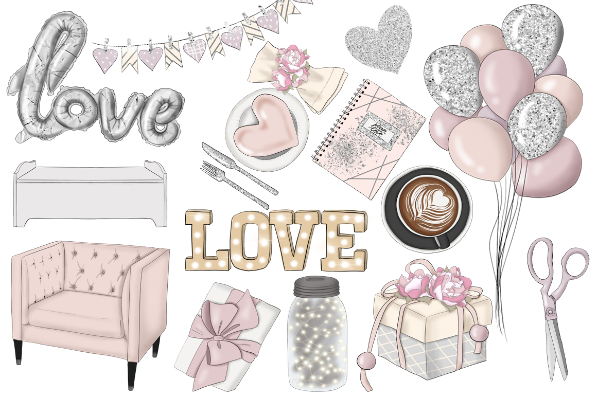 All You Need Is Love Graphic Design KIt example image 9