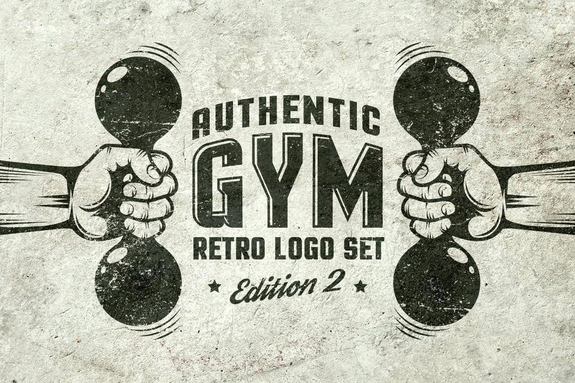 Gym Retro Logo 2 example image 1