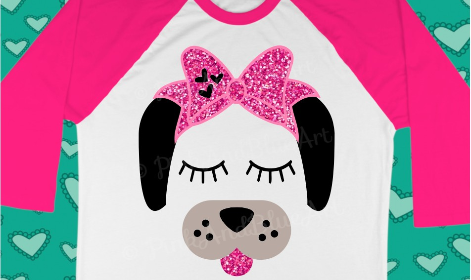 Dog Bow Birthday Cute Popular Girl svg shirt design example image 2
