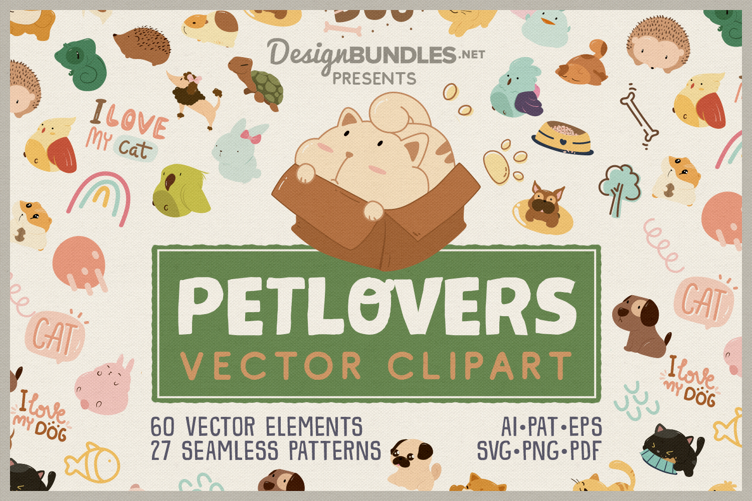 Pet Lovers Vector Clipart example image 1