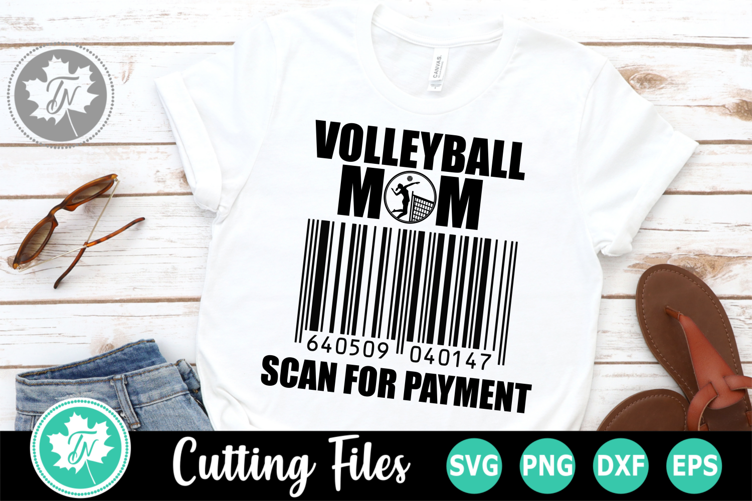 Volleyball Mom Scan for Payment - A Sports SVG Cut File example image 1