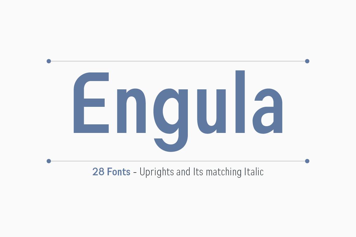 Engula Sans Serif Family example image 1