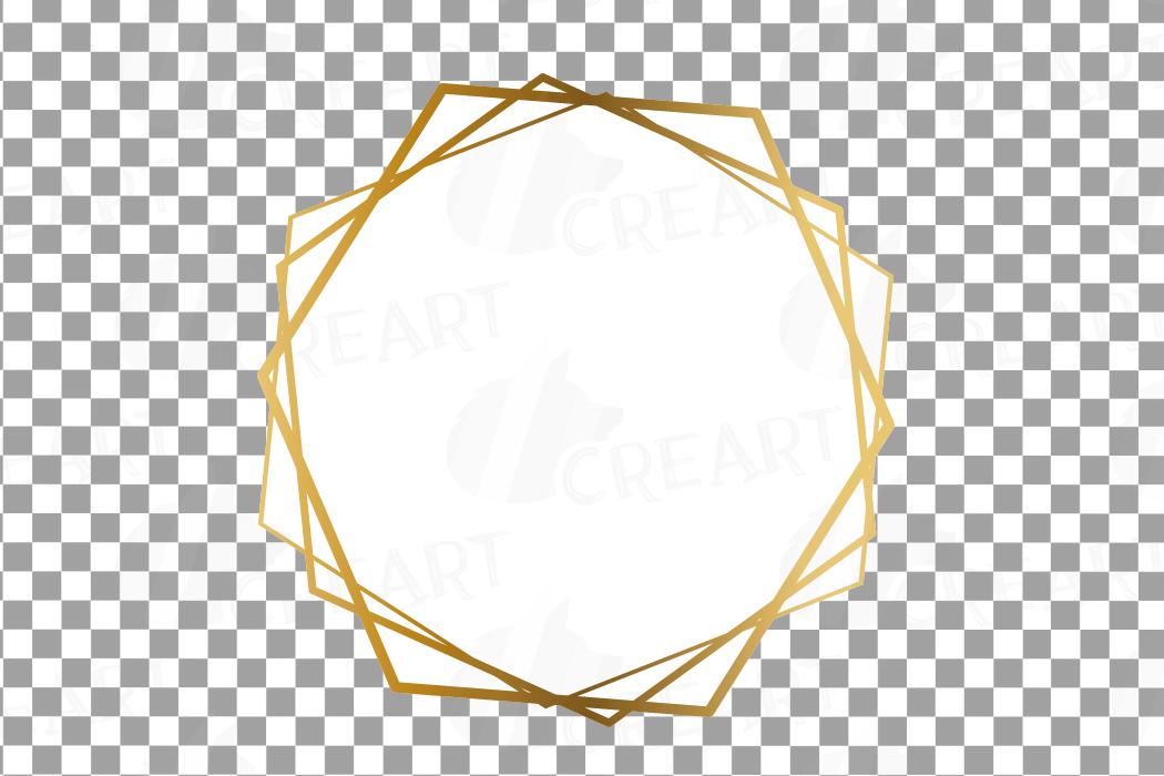 Elegant wedding geometric golden frames, lineal frames png example image 24