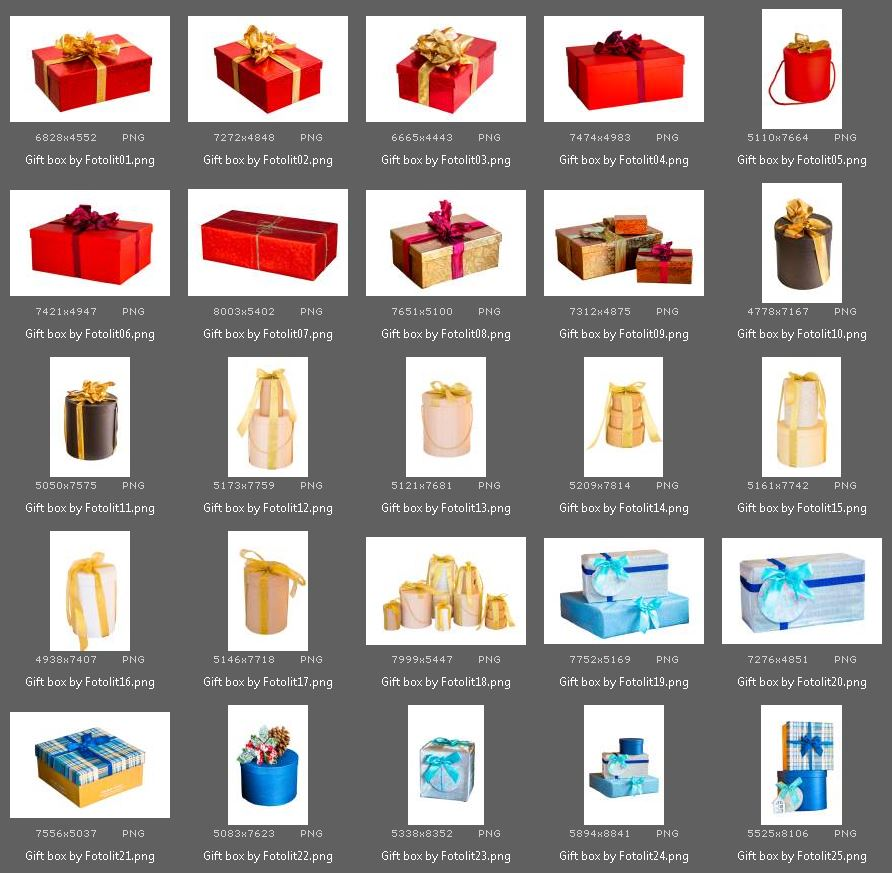 50 Gift Box Photo Overlays example image 3