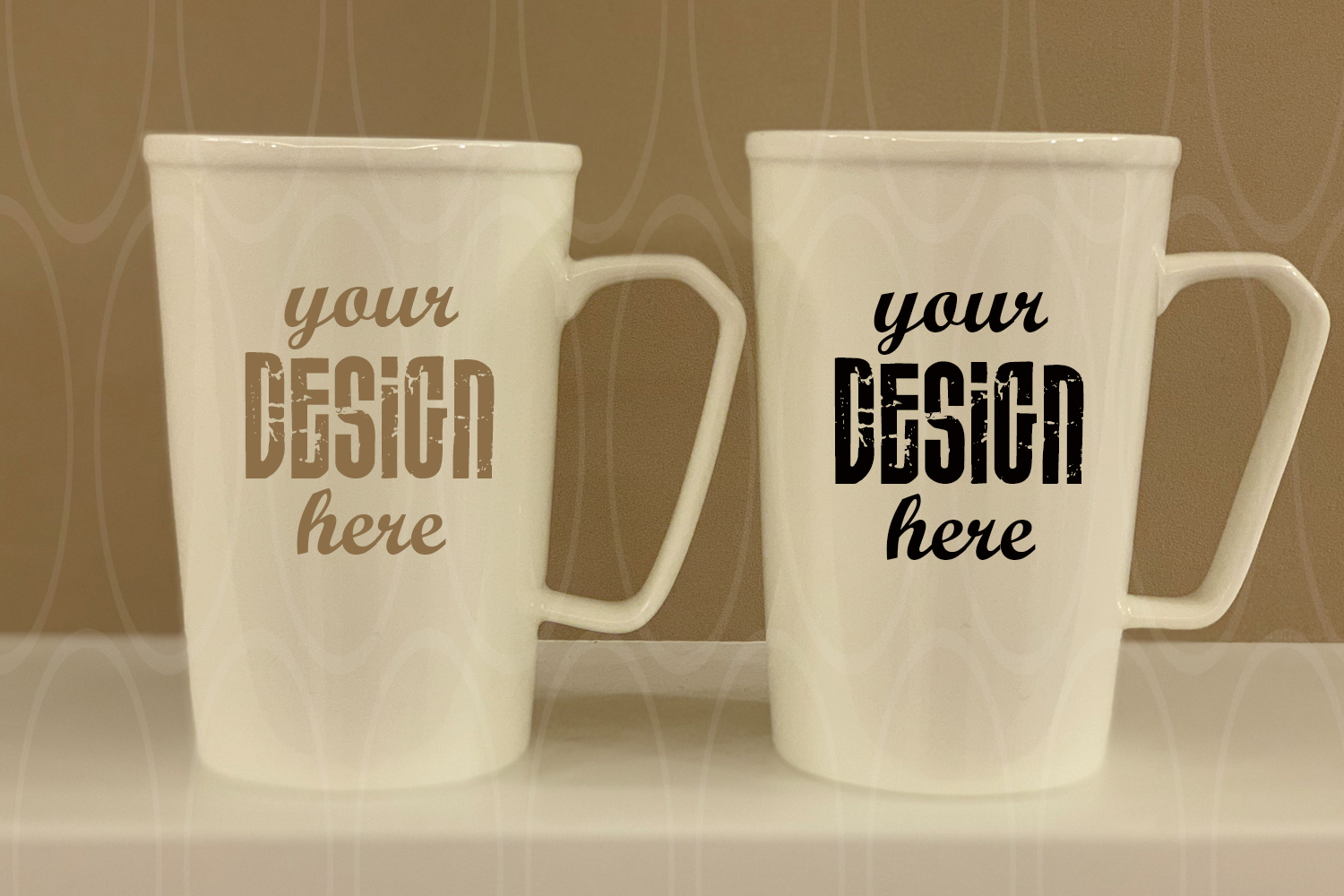 Styled Stock Photography Blank White Coffee Glass Cups example image 1
