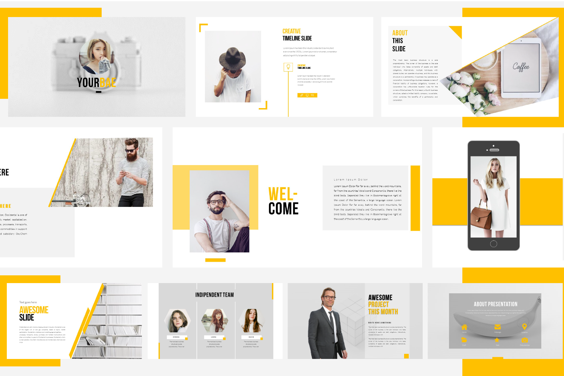 Yourbae Powerpoint Template example image 8