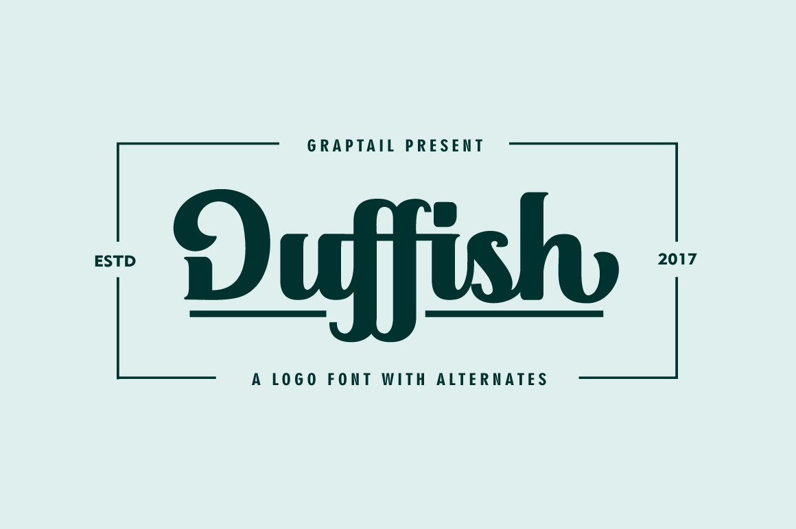 Duffish - Logo Font example image 1