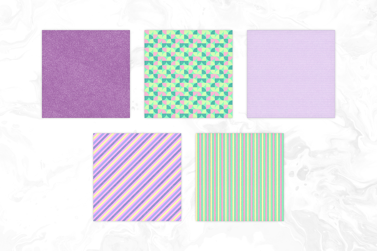 Cute Pastel Colors Tileable Geomteric Digital Paper example image 3