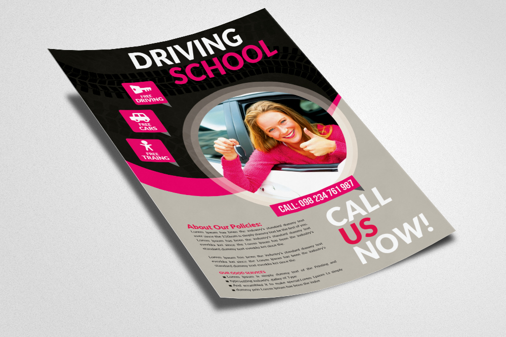 Driving Learning School Flyers example image 2