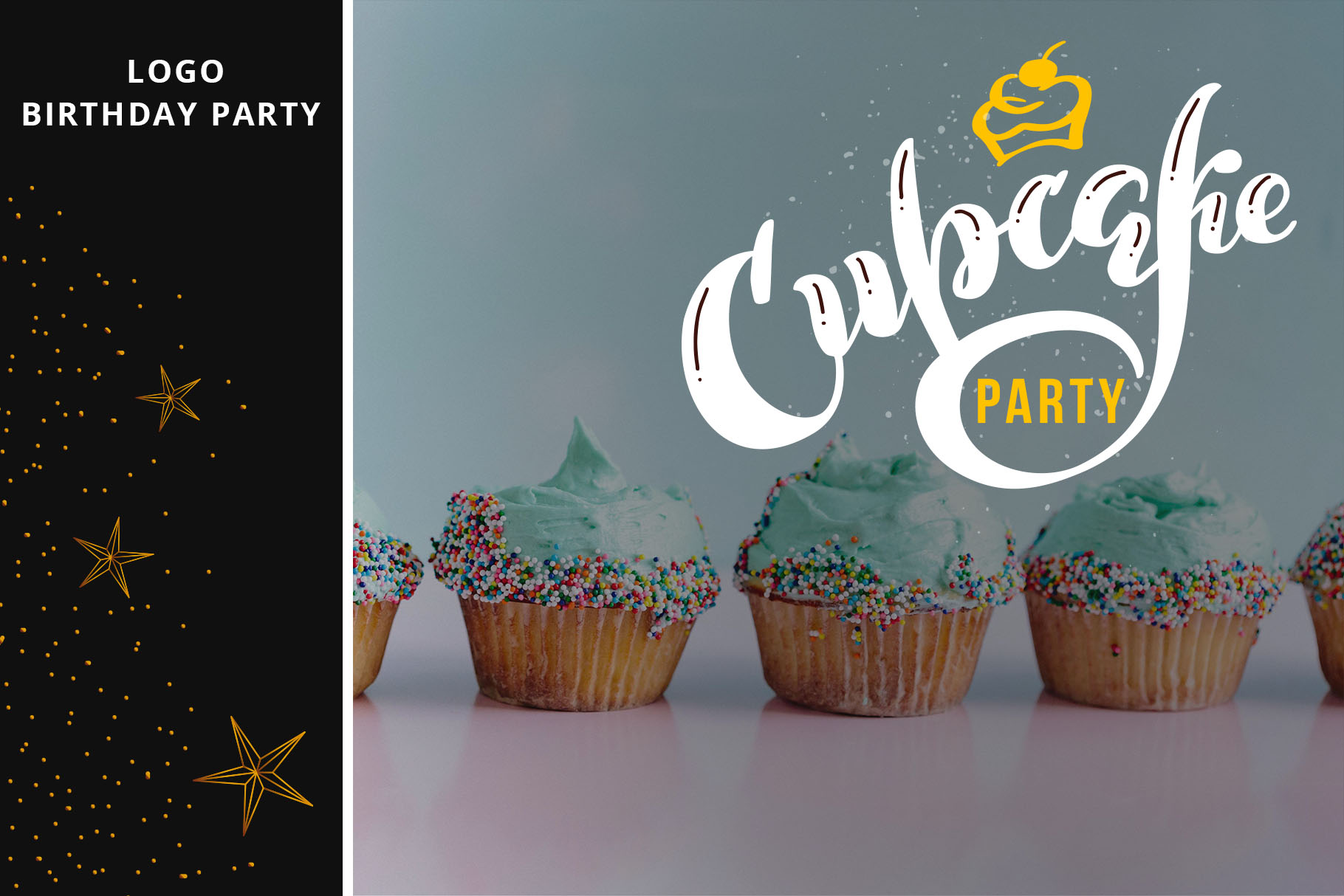 Party lettering, logos set example image 7