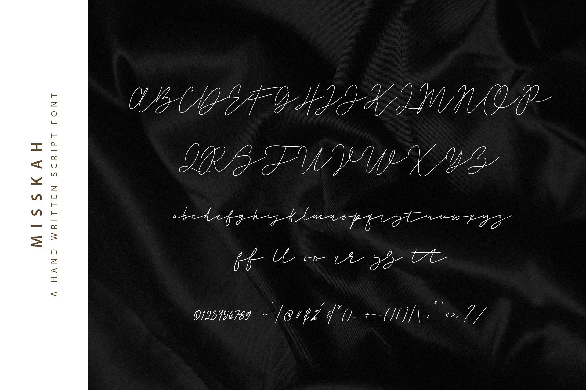 Misskah Script Font example image 10