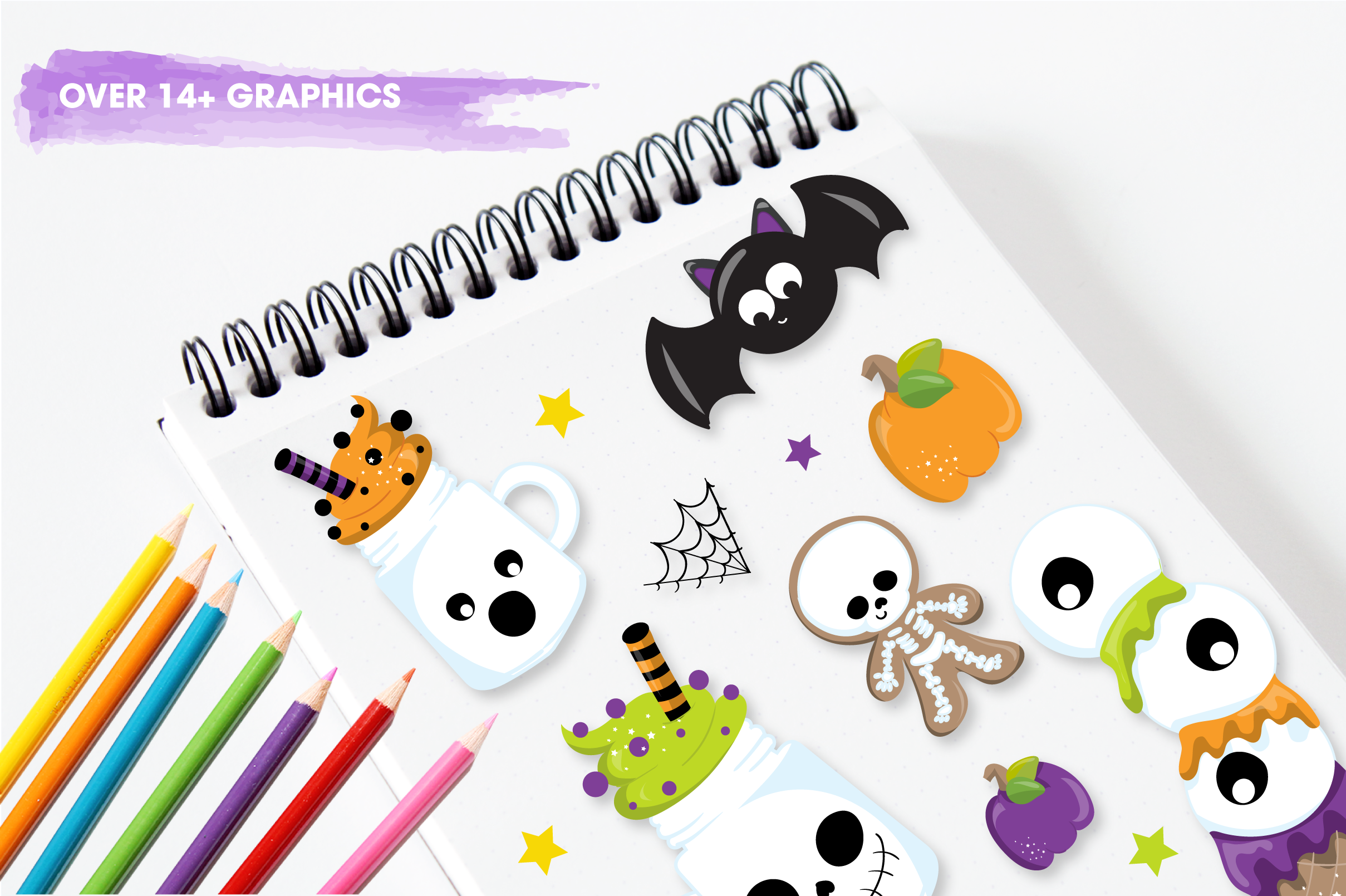 halloween sweets graphics and illustrations example image 3