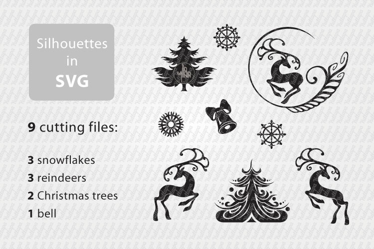 Winter Holidays, Christmas, New Year - vector clip art pack example image 2