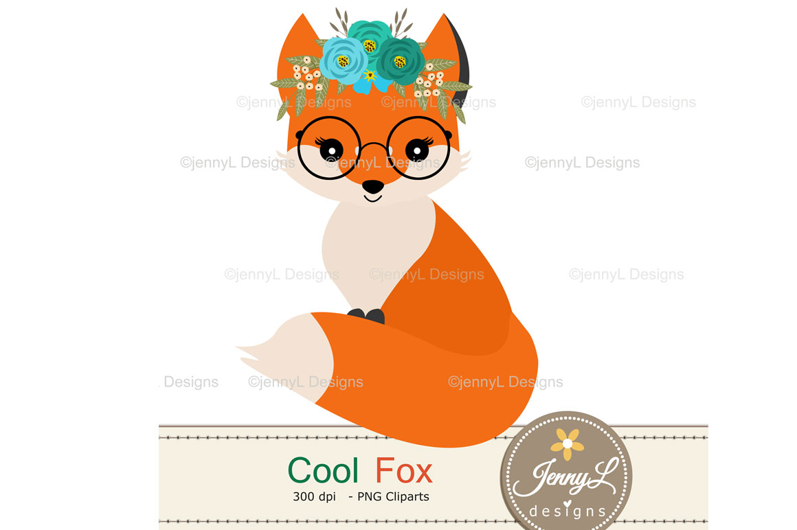 Woodland Fox Digital Papers and Clipart example image 4