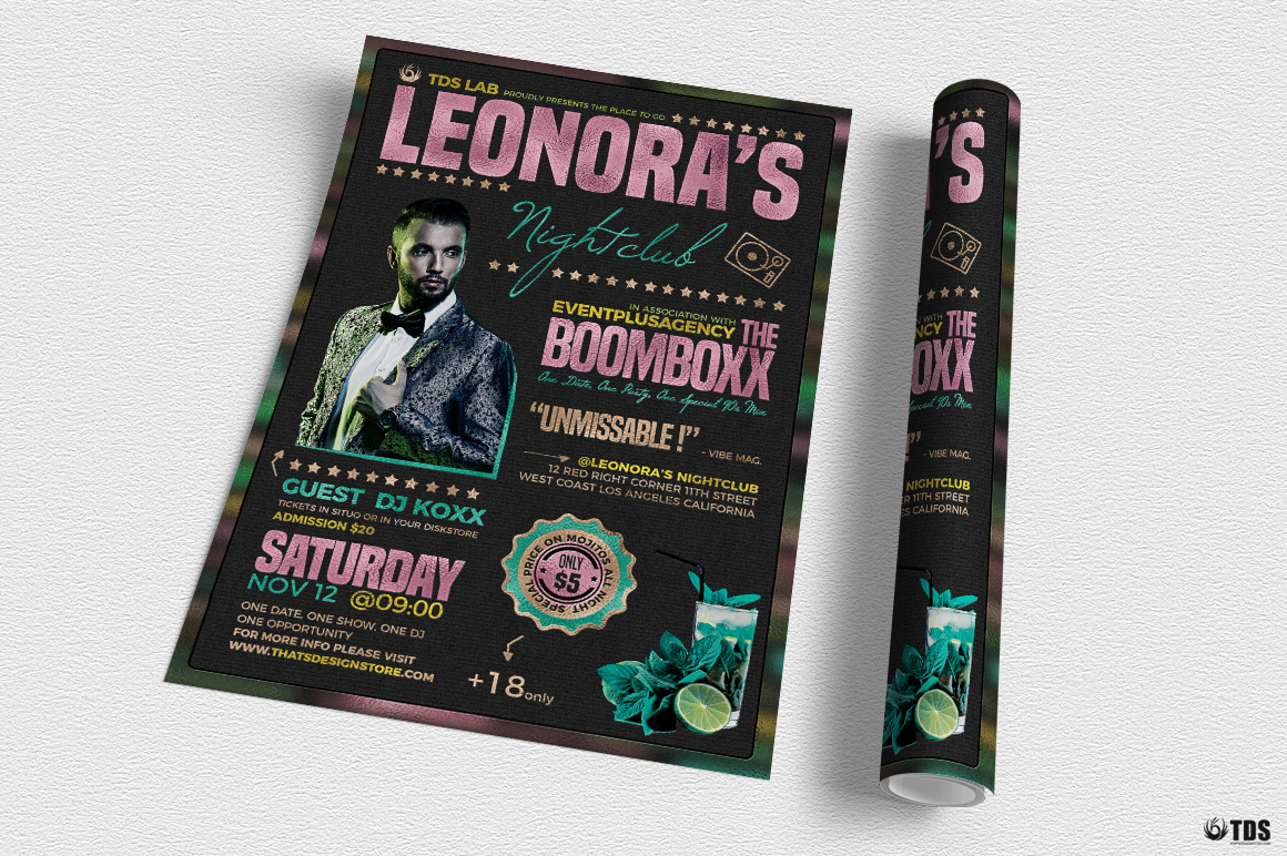 Nightclub Promotion Flyer Template example image 3