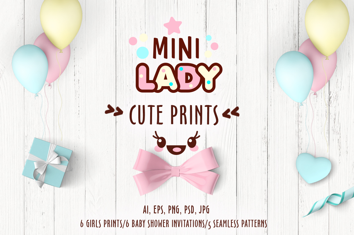 Cute vector prints for baby apparel example image 1