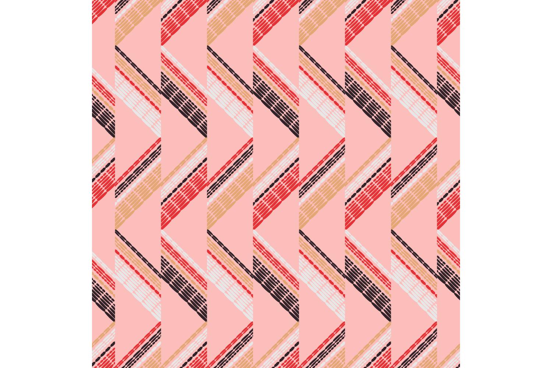 Ethnic boho ornament. Zigzag. Set of 10 seamless patterns. example image 3