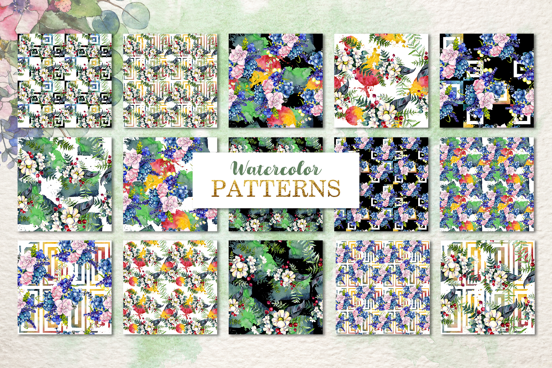 Gorgeous Flower Bouquets Watercolor png example image 5