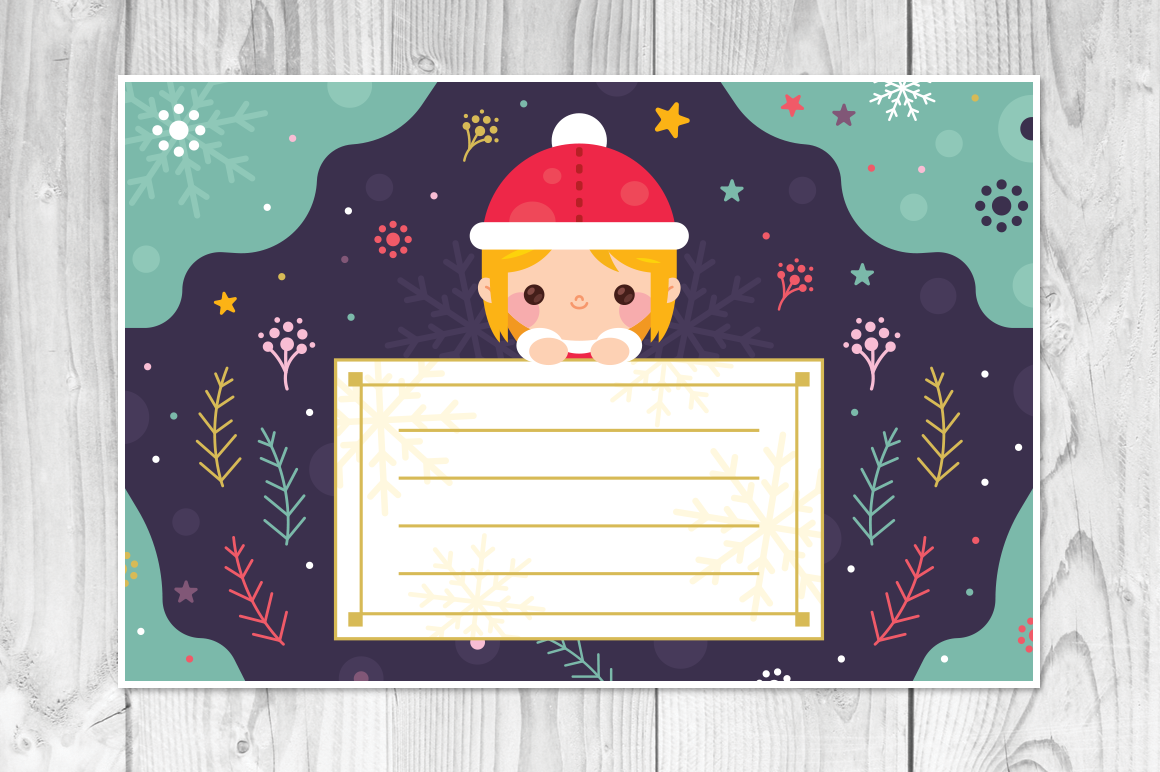 4 Christmas Cards, invitation flyer example image 5