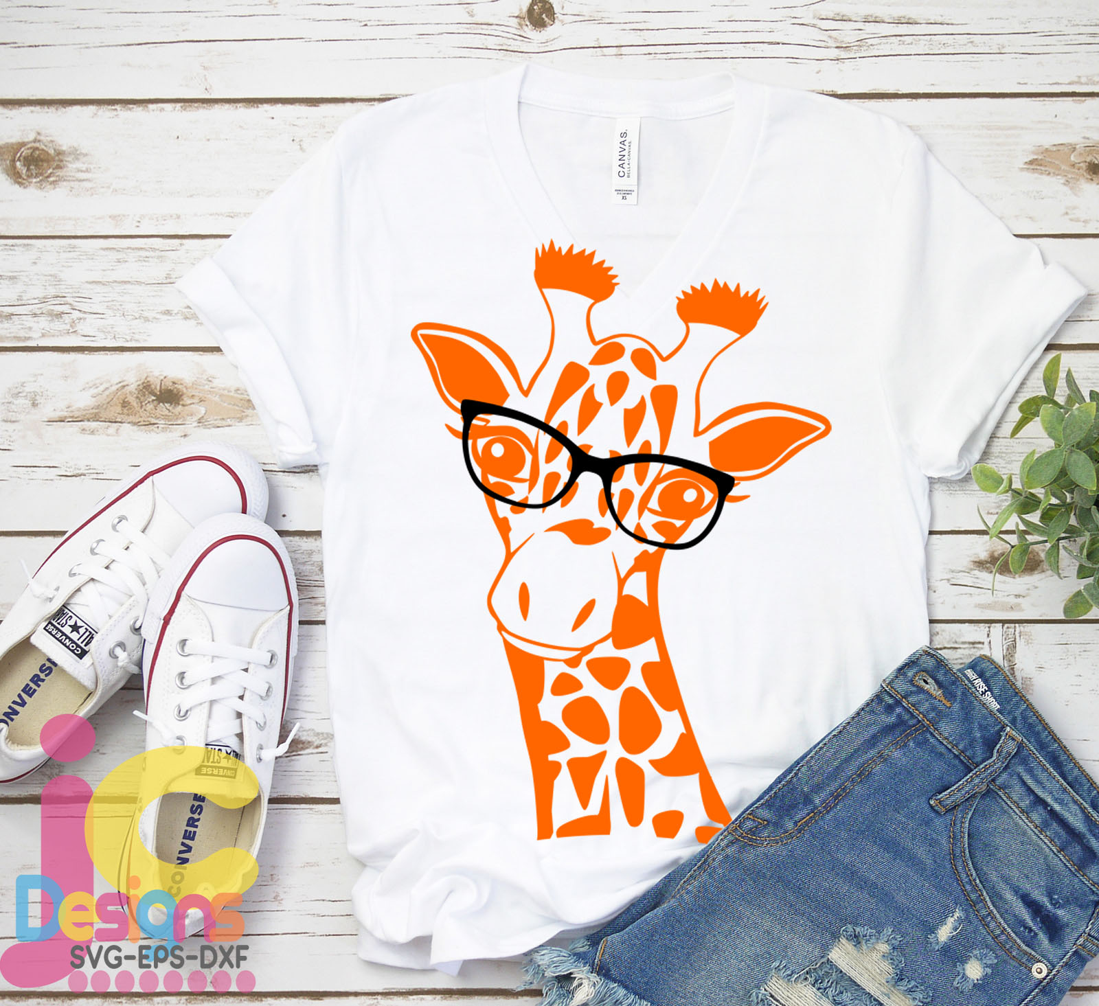 Giraffe in glasses svg, Cute Funny Kids Mother svg clip art example image 3