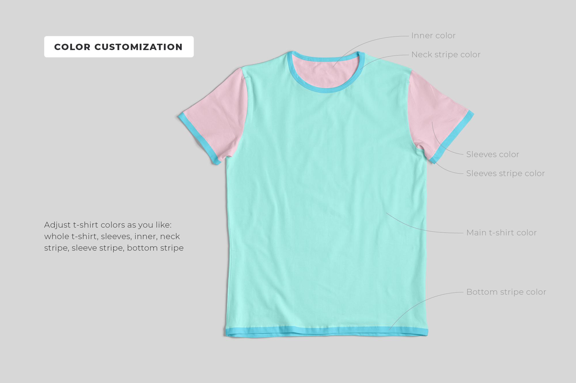 Customizable T-Shirt Mockups Pack example image 4