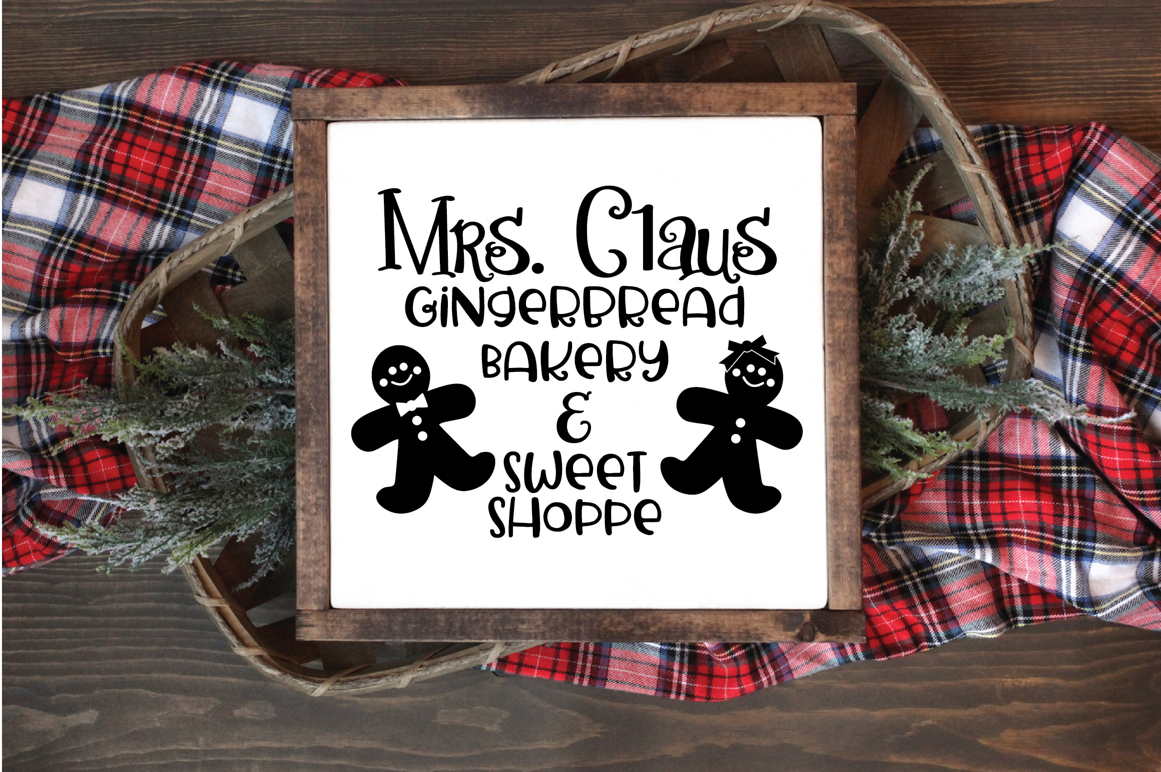 Christmas SVG Cut File - Gingerbread Bakery SVG DXF PNG EPS example image 2