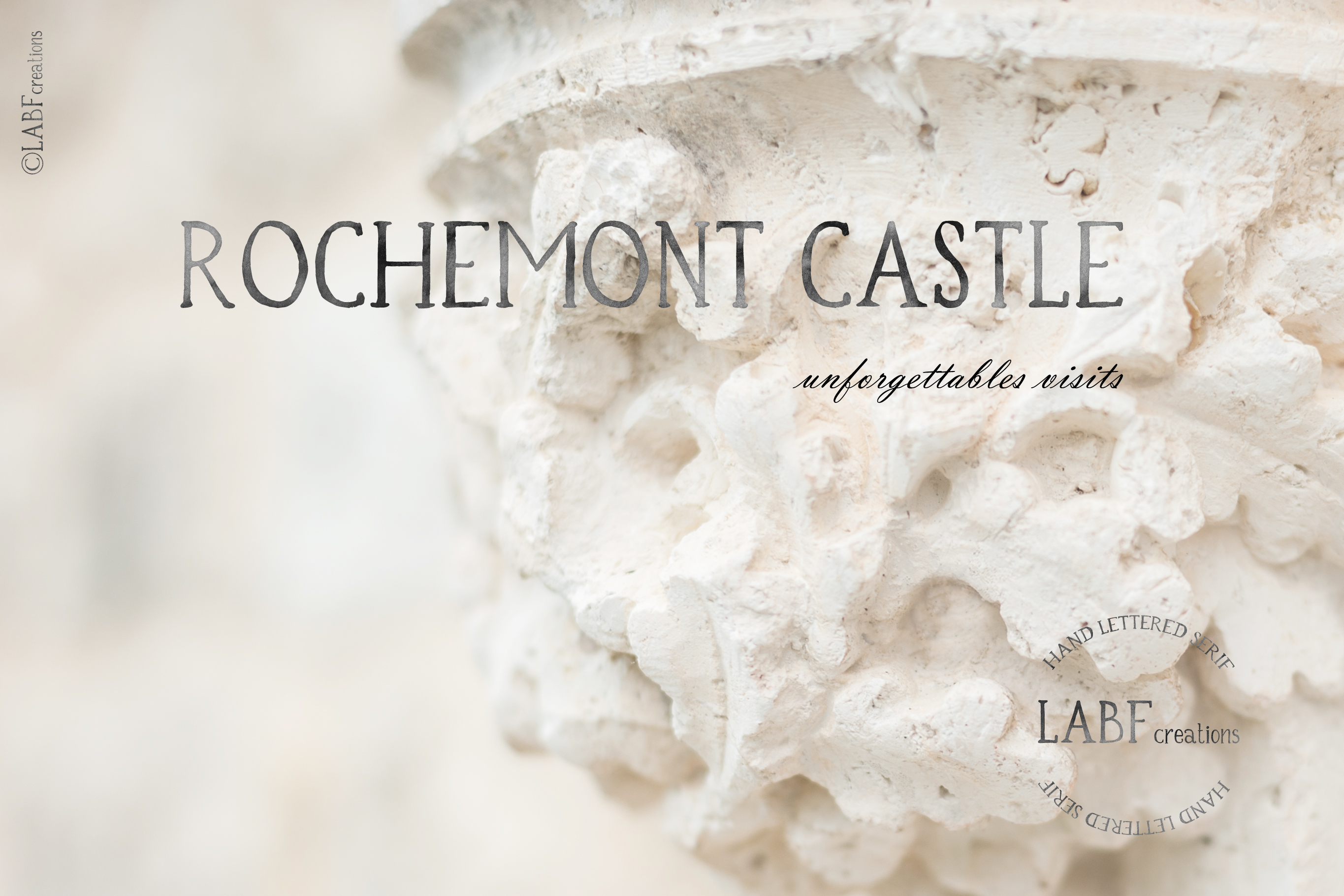 Rochemont. Classic and rustic Hand lettered serif font example image 6
