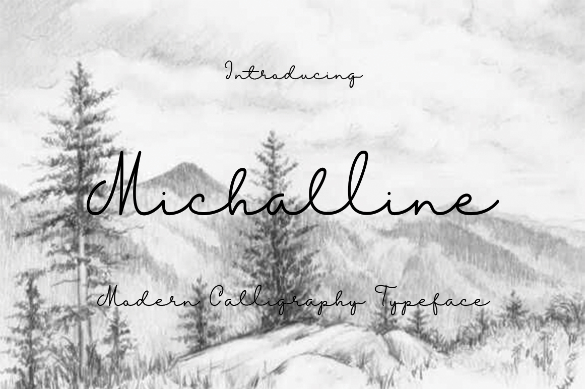 Michalline (line Script) example image 1